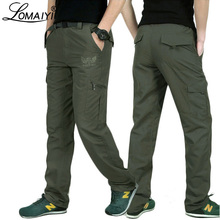 LOMAIYI Men's Summer Cargo Pants Military Style Pants Breathable Quick Dry Trousers For Men Army Green Pants With Pockets AM005