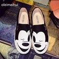 2016 Zapatos de Verano Sanglaide Slip On Zapatos de Lona Planos de la Mujer Ocasional otoño Mujeres de La Manera Ocio alpargatas slipony estudiante zapatos