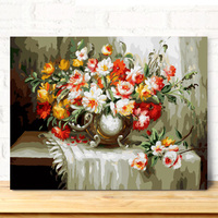 MaHuaf A533 Max Size 60x75cm Frameless DIY Oil Painting By Numbers DIY Digital Oil Painting On