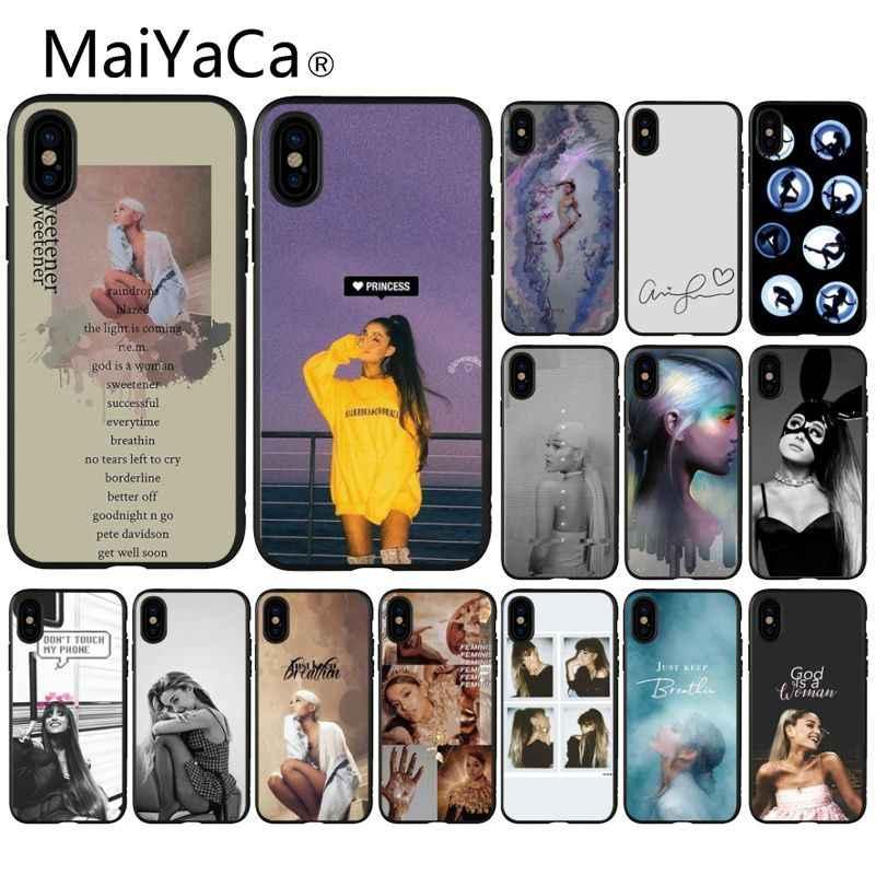 MaiYaCa Ariana Grande พระเจ้าผู้หญิง High - end Protector กรณีสำหรับ iphone ของ Apple iphone 8 7 6 6 S plus X XS MAX 5 5 S SE XR มือถือ