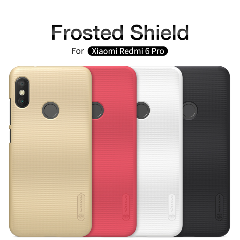 Buy Case For xiaomi redmi 6 Pro Cover NILLKIN Matte Frosted Shield Hard Back Cover For xiaomi redmi 6 6Pro Case with retail package for only 8.41 USD