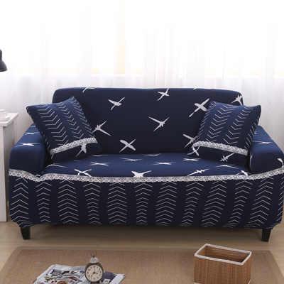 Чехлы для диванов С Рисунком Листьев эластичная тянущаяся универсальная секционная наволочка угловая крышка Чехлы для мебели кресла домашний деко