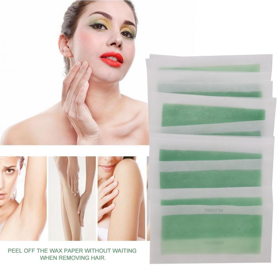 48pcs Disposable Double Face Non Woven Wax Body Hair Remove Paper