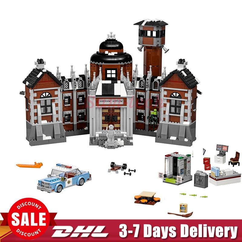 2018 IN Stock Lepin 07055 1628pcs New Batman Movie Series THe Arkham`s Lunatic Asylum Set Building Blocks Bricks Toys 70912 batman volume 2 joker s asylum
