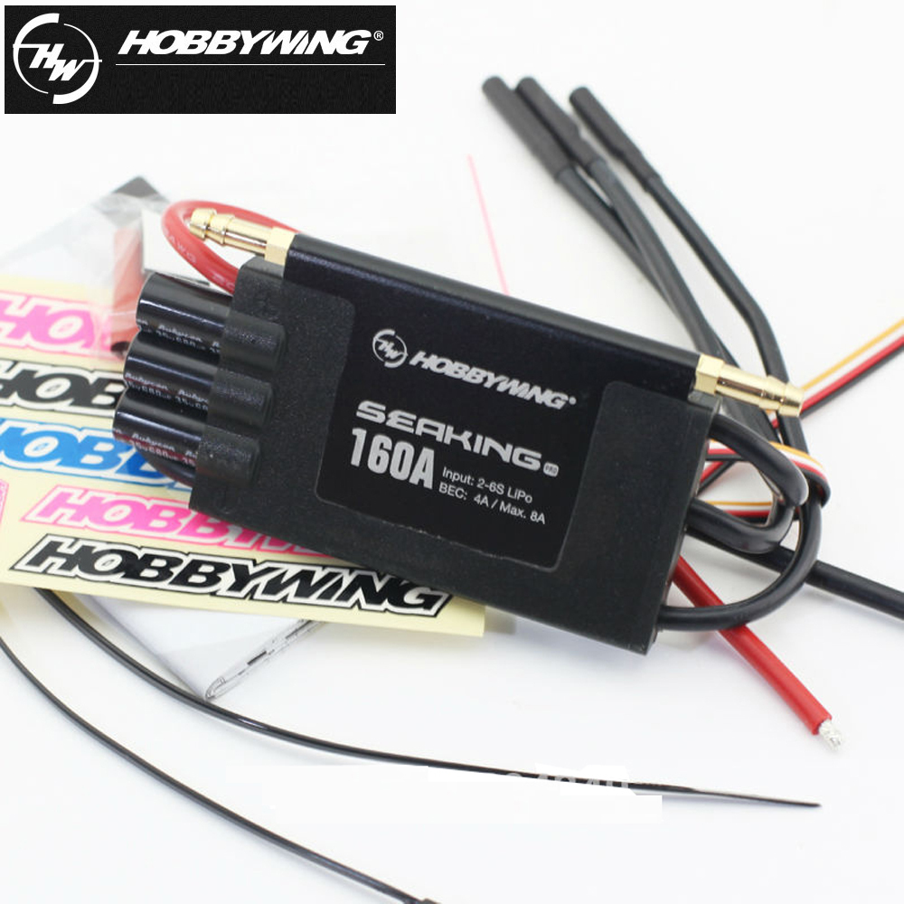 1Pcs Original Hobbywing Seaking Pro Bootsregler 160A BEC 4A 2-6s BL Motor ESC HV BEC For RC R/c Racing Boat chinese kung fu book shaolin authentic internal strength five punches chinese wushu book free shipping