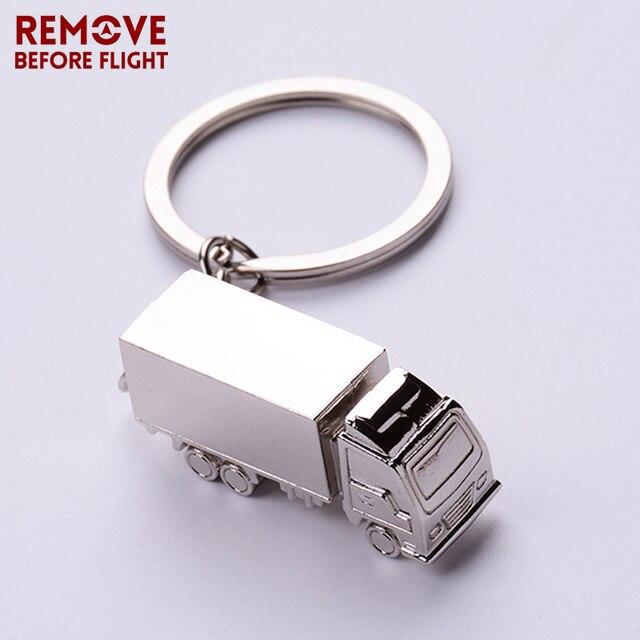 Fashion Classical Cute Truck Car Keychain Creative Mini Key Ring For