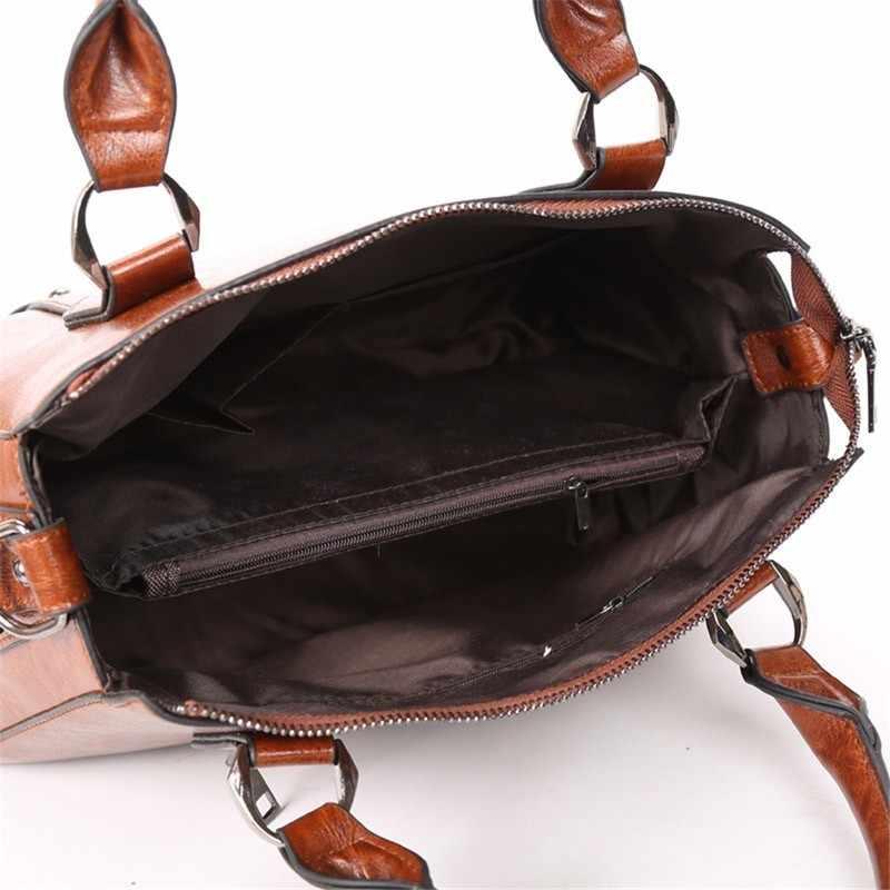 Célèbre marque femmes sacs Vintage sac à main doux en cuir huile sac à main rétro grande capacité dames sacs à bandoulière femmes 'messenger sac