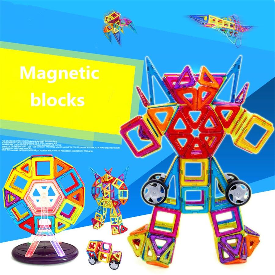 40pcs Magnetic Designer Construction Set Model & Building Toy Plastic Magnetic Blocks Educational Toys For Kids Gift
