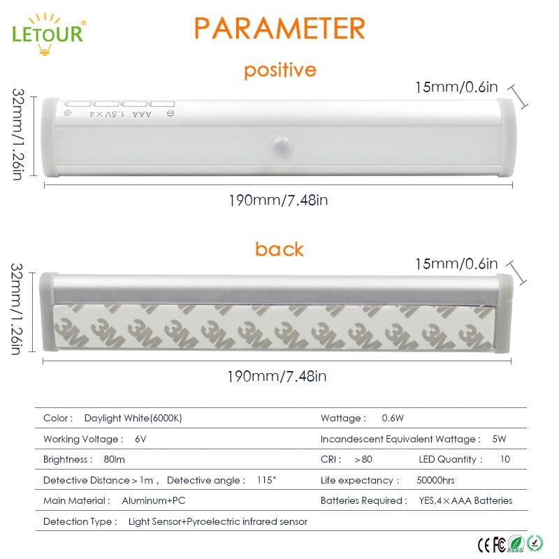 Bewegingssensorlicht Draadloze wandlamp 5W LED-nachtlampje 2 meter - Nachtlampje - Foto 3
