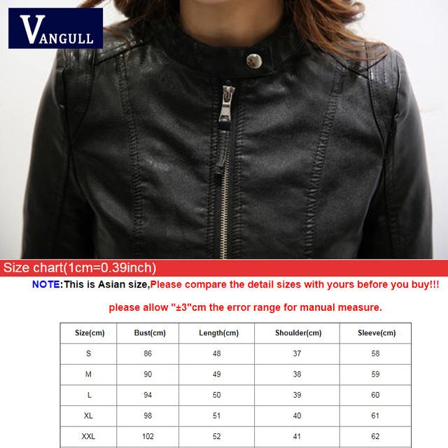 Pu Leather Jacket Casual Slim Basic Streetwear