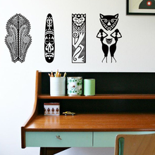 Art new design home decor vinyl Africa traditional patterns wall sticker removable house decoration tattoo creative room decals