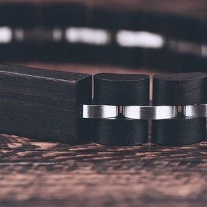 Image 5 - BOBO BIRD Wood Bracelet For Women Free Engraved name Men Bracelet Stainless Steel Bangle Anniversary Gift for Him pulseras mujer