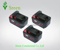 3pcs 3000mAh Spare 18V Lithium Ion Rechargeable Power Tool Battery Replacement For Milwaukee M18 XC 48