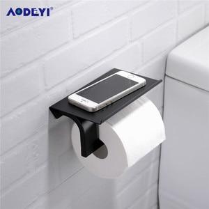 Image 5 - Multiple Colors Toilet Paper Holder Wall Mount Tissue Roll Hanger 304 Stainless Steel Phone Platform Bathroom Hardware Set