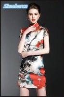 Одежда высшего качества летнее платье Для женщин бренд короткий рукав Повседневное Офисные женские туфли темперамент стенд-линии Средства...