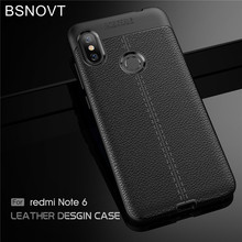 For Xiaomi Redmi Note 6 Pro Case Soft Silicone PU Leather Anti-knock BSNOVT