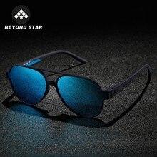 Blue Mirror Aviation Man Sunglasses Polarized sun glasses for men TR90 Frame Spo