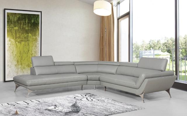Divani per soggiorno divano ad angolo in pelle per divani moderni ...