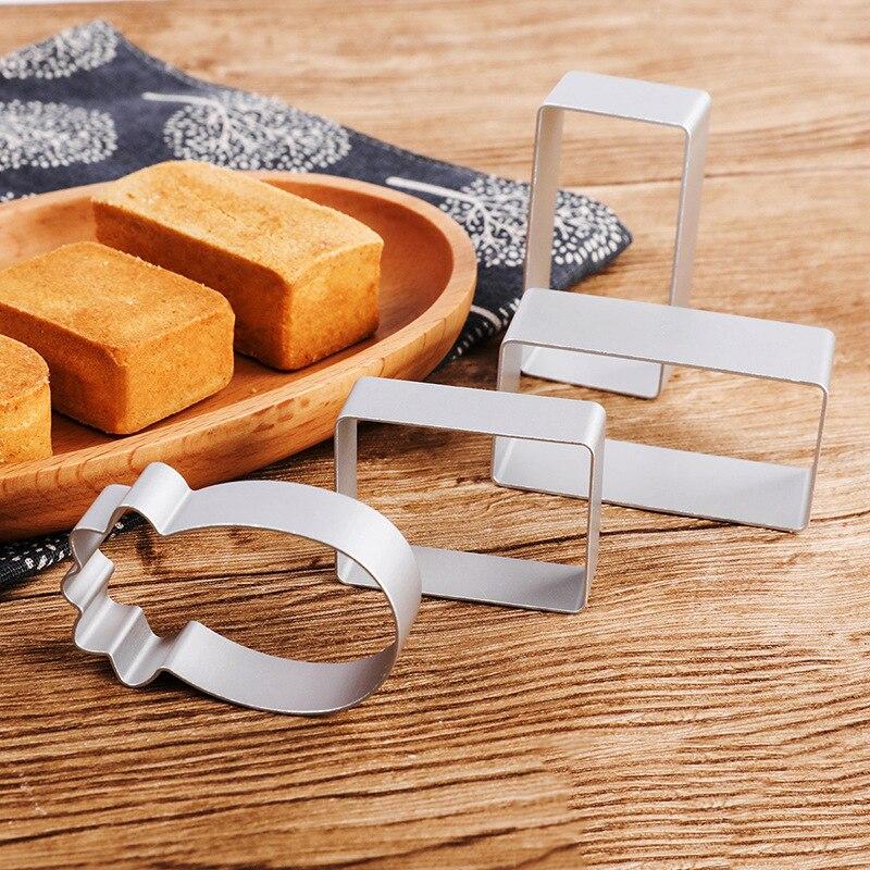 1 шт. легкие формы для выпечки печенья, торта, украшения из пищевого алюминиевого сплава, формочки для печенья, 4 формы, DIY кухонные инструменты для выпечки Формы для тортов    АлиЭкспресс - форма для выпечки