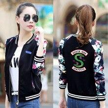 2019 New Fashion Riverdale Southside Serpents Jacket Coats Women Harajuku Hoodie Streetwear Striped Uniform Zip-up Button Jacket