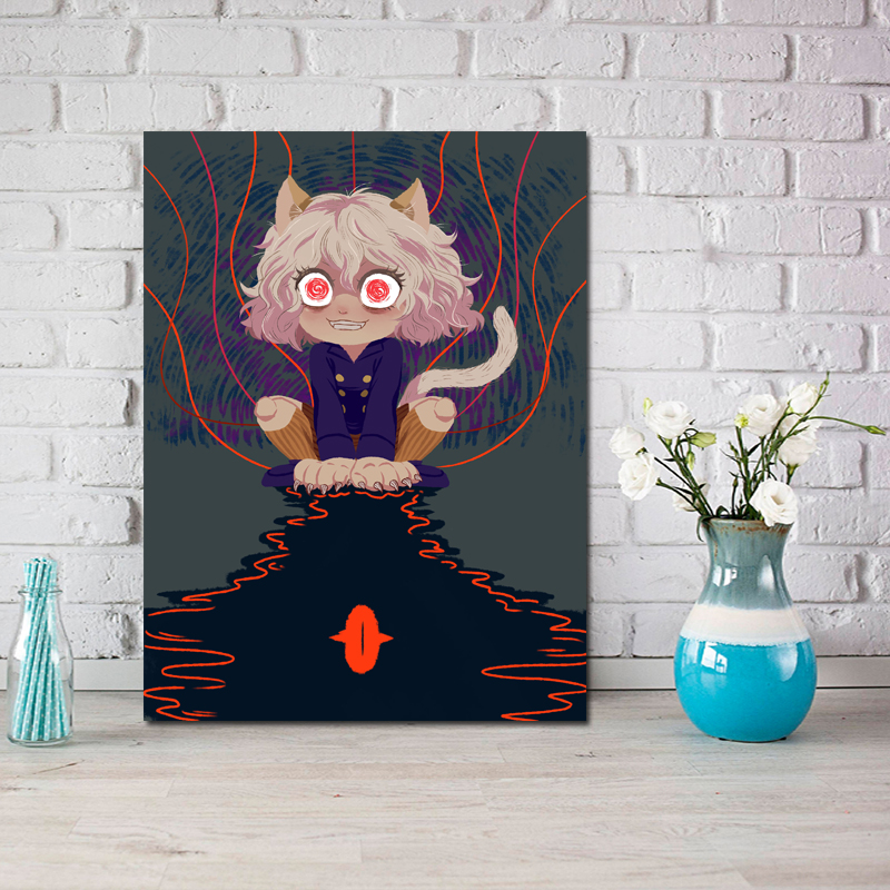 Hunt Neferpitou Wallpapers Wall Art Canvas Painting Oil Picture Kitchen Office Bedroom Home Decor Framework