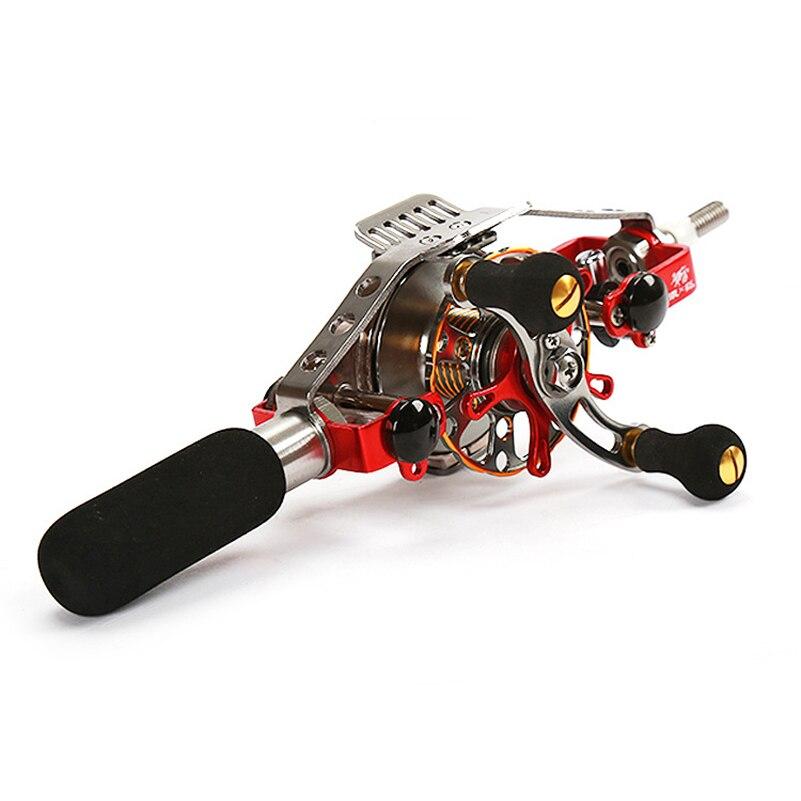 Bobine de pêche à la mouche en métal YUYU bobine de câble automatique en alliage d'aluminium bobine de poisson de glace à droite rapport de vitesse gauche 2.5: 1 frein 8 kg