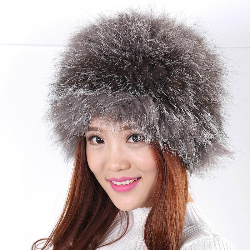 ФОТО Autumn Winter Women Hat New British Retro Extremely Warm Wool Fur Hat Fashion Generous Appearance Fur Pompom Hat Women
