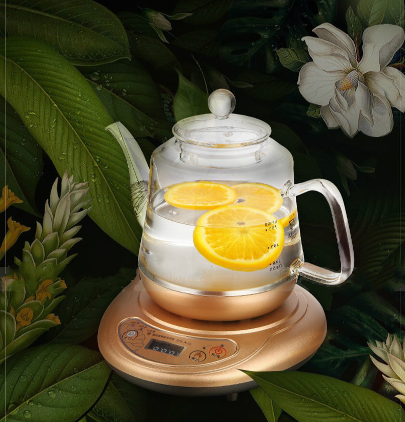 Brew tea ware herbal set glass raising pot fully automatic flower teapot boiled stove Anti-dry Protection стоимость