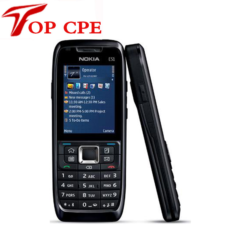 Original Refurbished Nokia E51 Mobile Phones WIFI Bluetooth JAVA Unlock Cell Phone Free Shipping In Stock