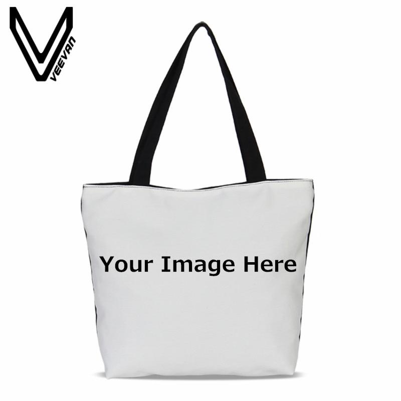 VEEVANV 2018 3D Printing Personalized Shopping Bag Design Exclusive Fashion Women Shopping Bag Handbag Portable Handbag for You