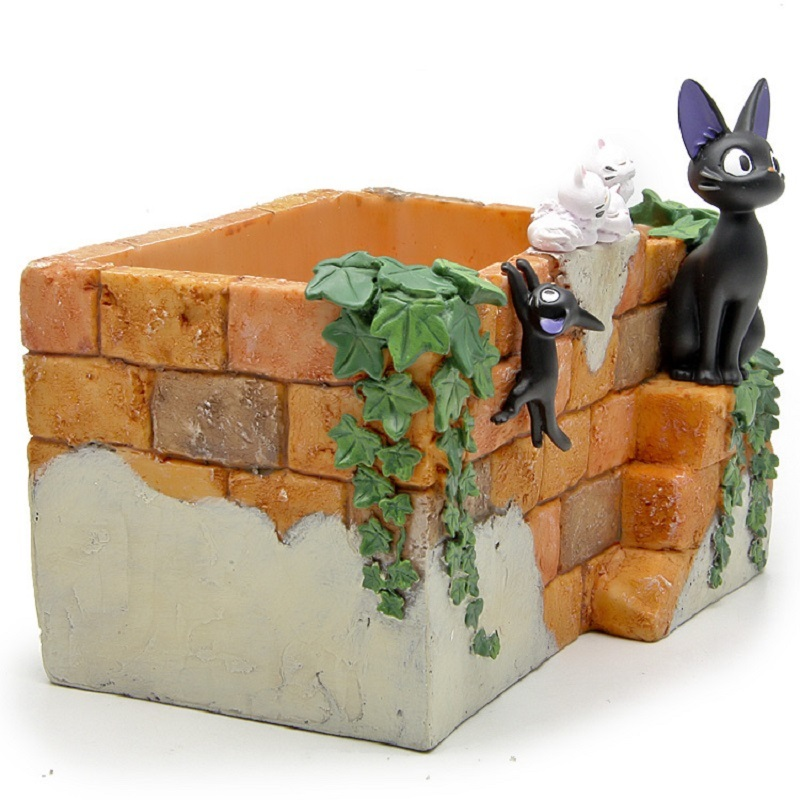 Hot Sale Miyazaki Kiki's Delivery Service Flower Pot Action Figures Toys DIY Micro Landscape Decoration Props Toys Kid Gifts landscape with figures givernyрепродукции моне 30 x 30см