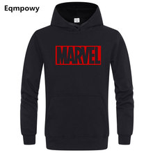 Marvel Hoodies Men Brand suprem Long Sleeve Solid Color Hooded Sweatshirt Outerwear Sweat Coat Sportswear Casual