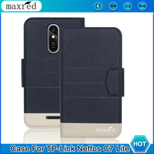 5 Colors! TP-Link Neffos C7 Lite Case 2019 High Quality Flip Ultra-thin Luxury Leather Protective Case Cover Phone чехол neffos c5 protective case