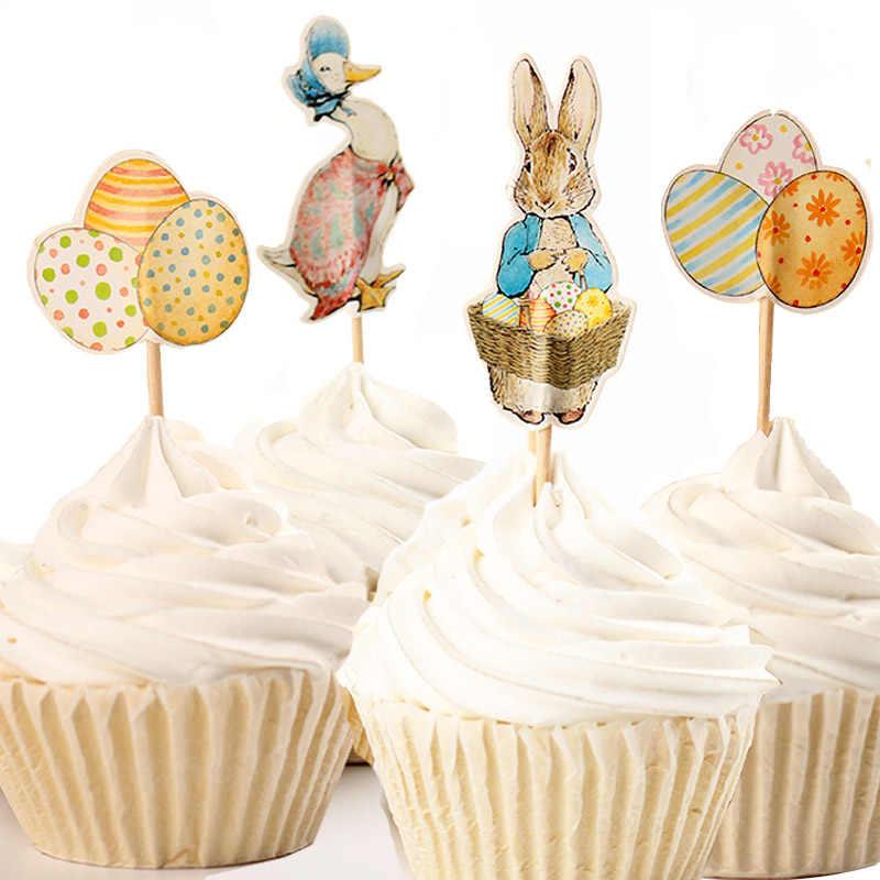48pcs Lot Cute Octonauts Penguin Elephant Zebra Theme Cartoon Cupcake Ice Cream Cake Toppers For