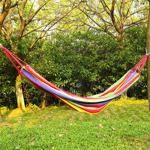 Image 3 - Leewince Big Size Hammock Portable Camping Garden Beach Travel Hammock Outdoor Ultralight Colorful Cotton Polyester Swing Bed