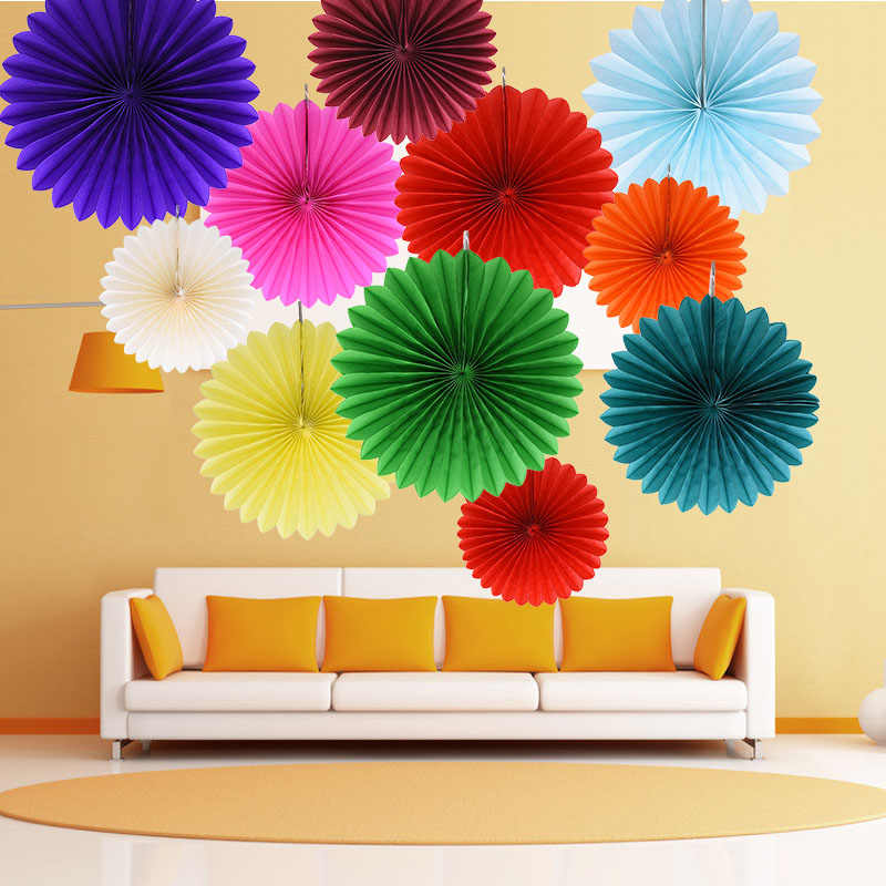Magnificent 5Pcs 10 30Cm Tissue Paper Cut Out Paper Fans Pinwheels Hanging Crafts For Baby Showers Wedding Party Birthday Festival Decor Download Free Architecture Designs Meptaeticmadebymaigaardcom