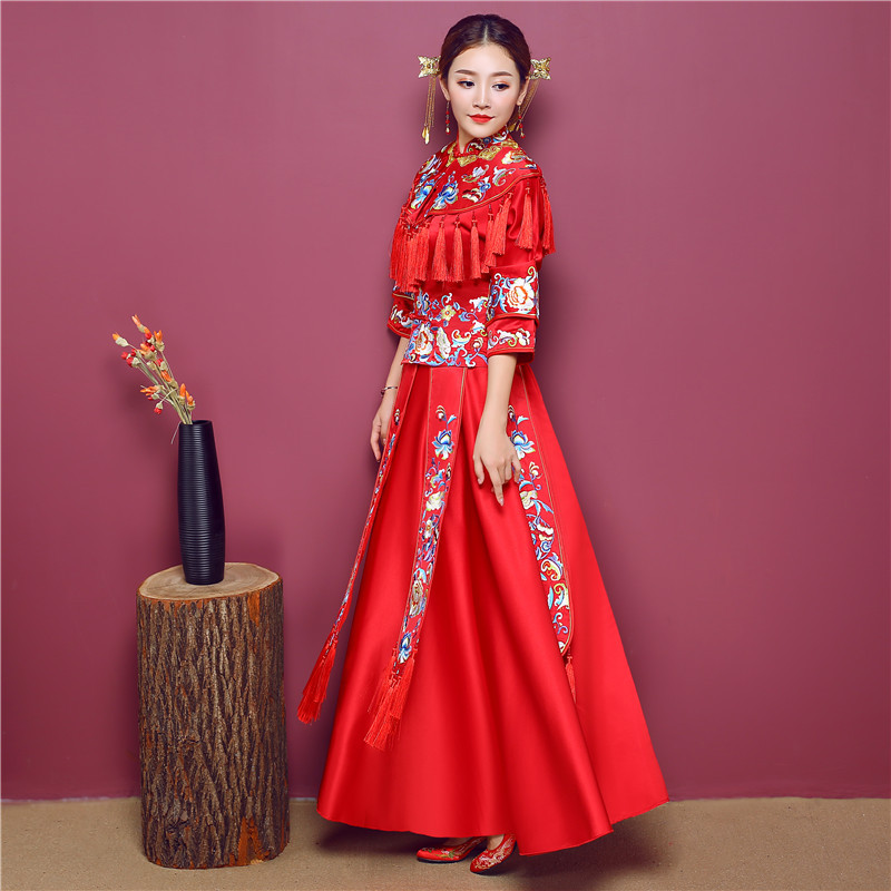 Contemporáneo Vestido De Boda Tradicional China Friso - Ideas de ...