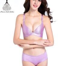 Seamless Bra Set untuk Wanita Push Up Pakaian Set Pakaian Dalam Wanita  Bralette Bra Ukuran 38 40 Bra Celana Dalam Set Merek wani. 02e2fcfe6e