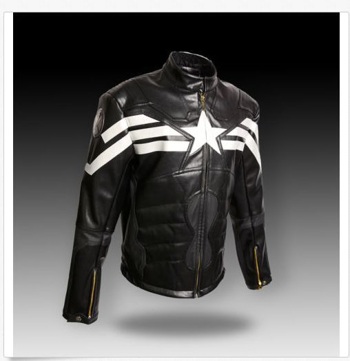 The Avengers Captain America Cosplay Evans Sheepskin Tops Winter Soldier Synthetic Leather men's Jacket 1