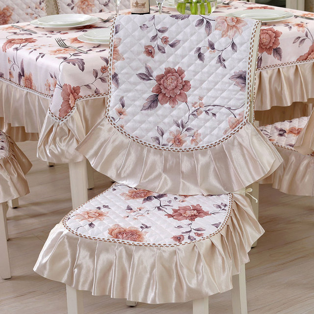 Chair Cover Quilting Two Seater Covers Linen Covering Technics Dinning Computer Home Textile Coprisedie Sala Da Pranzo Printed Cubre Sillas