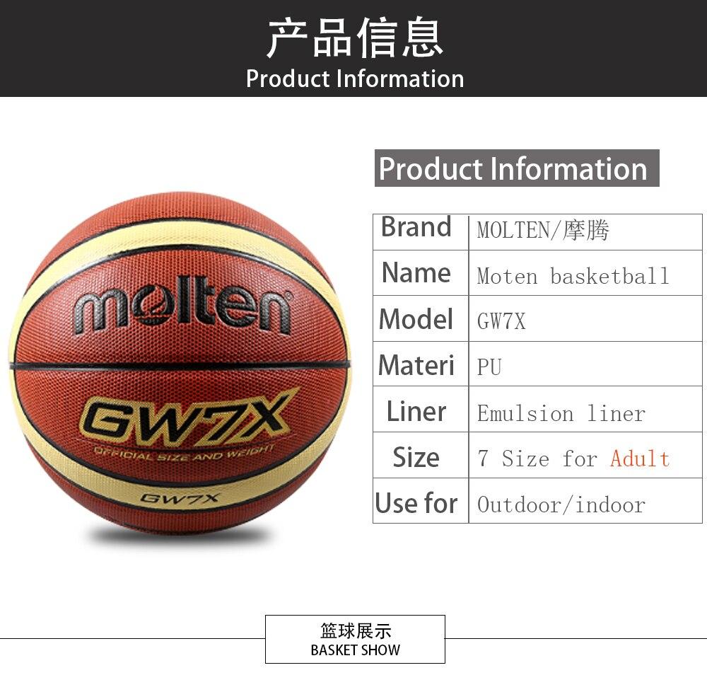 Original Bola Del Baloncesto Molten Gw7xgw6x Gw5x De La Alta Calidad Basket Size 7 Asegurarse Que Antes Sobornar Un Marca Pu Material Oficial Size7 Tamao