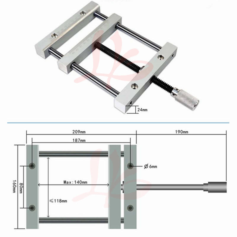 QGG Precision vise 140mm CNC router table jig for CNC milling machine flat tongs
