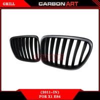 e84 black abs material front bumper mesh grill For bmw x1 series 2010 2015 18i xDrive sDrive 20i 25i 28i 35i 16d 18d 20d
