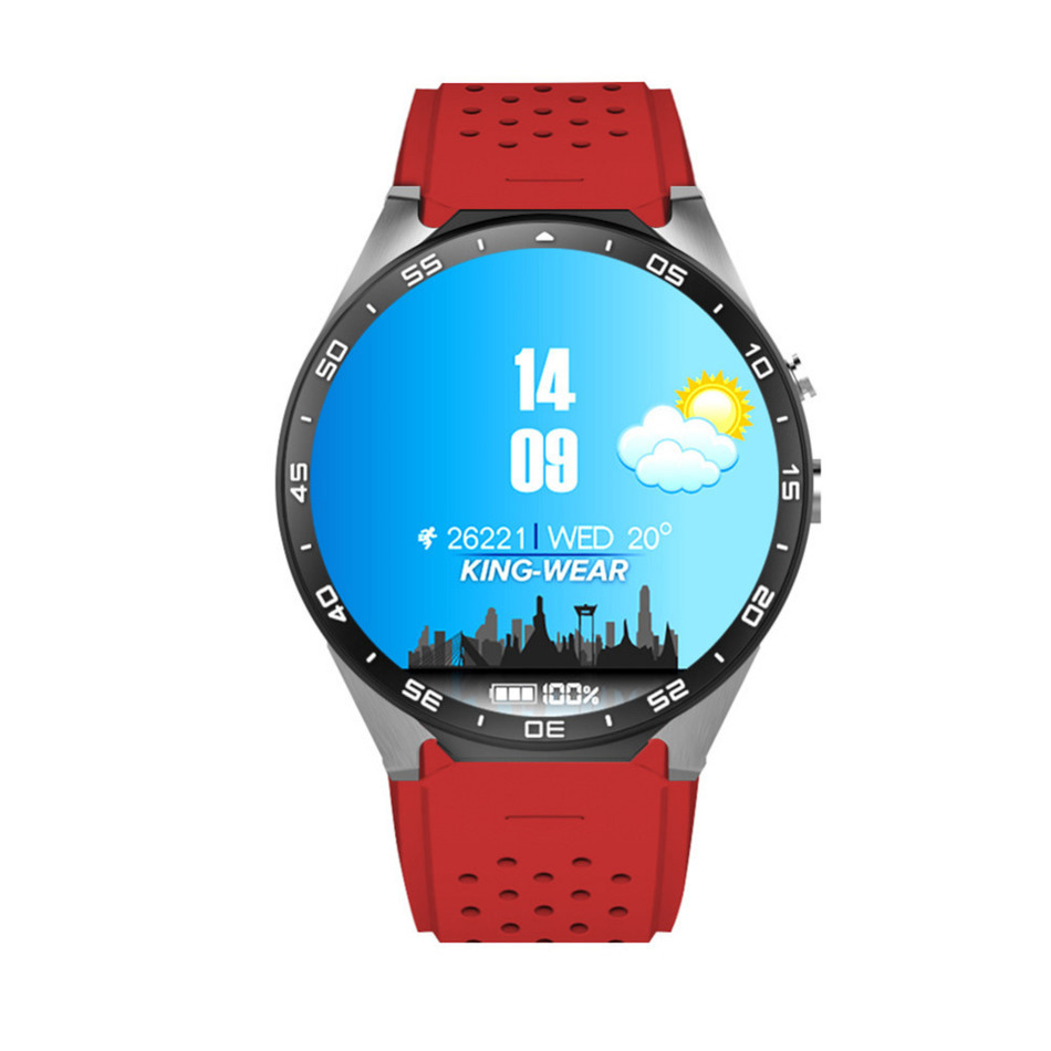 KW88 Smart watch Android 5.1 MTK6580 CPU 1.39 inch 3G Wifi Smartwatch for Samsung Huawei Phone Watch BT 4.0 +WIFI