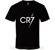 Cr7 Cristiano Ronaldo Footballer Soccerite Men Black T-shirt Size S - 3xl New From Us Summer Style T Shirt
