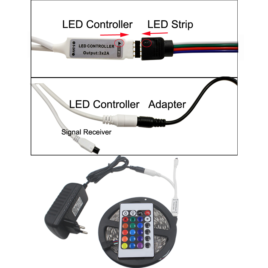 LED traka 5M RGB LED svjetlo RGB LED traka fleksibilna DC12V - LED Rasvjeta - Foto 2