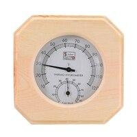 Temperatura de medição de madeira sauna sala termômetro higrômetro higrômetro umidade medida casa suprimentos|Medidores de temperatura| |  -
