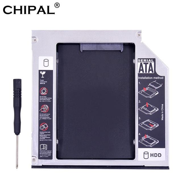"""CHIPAL aluminio PATA IDE a SATA 3,0 2nd HDD Caddy 12,7mm de 2,5 """"para 1 T SSD duro caso disco carcasa para portátil CD-ROM DVD-ROM"""