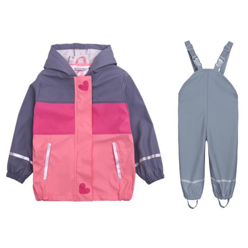 2019 spring new children s children s girls waterproof windproof cold raincoat poncho outdoor jacket rain