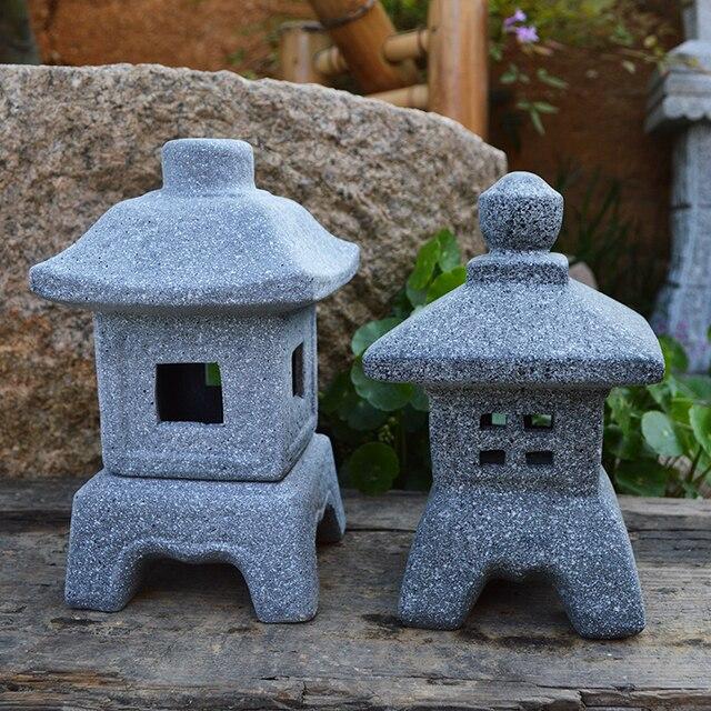 Style Japonais Lampe Imitation Pierre Petit Vent Lampe Jardin
